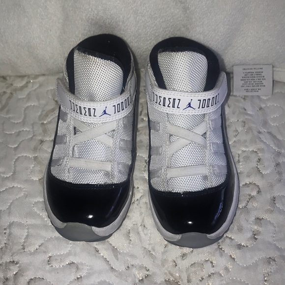 White With Black Patent Leather Jordans